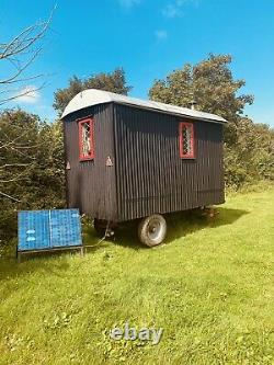 Shepherds Hut 1950s Massey Chassis Authentic Wool Insulated Hand Made Airbnb Etc