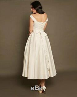 Short Wedding Dress Size 4 6 8 by VehovaDresses Tea Length Wedding Dress Ivory