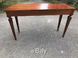 Solid Mahogany Reproduction Antique Console Table