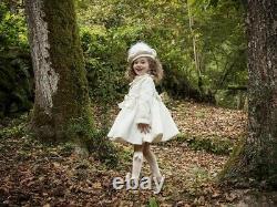 Sonata handmade spanish cream coat bnwt size 4 traditional bow coat and beret