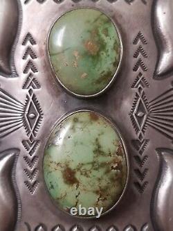 Stanley Parker Navajo Sterling Silver Turquoise Ketoh Bow Guard Bracelet