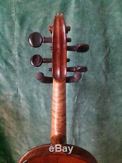 Superb Antique Violin handmade E R Schmidt signed label Stradivarius + bow case