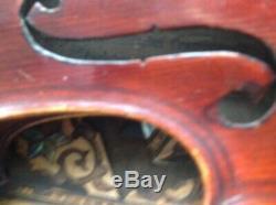Superb Antique Violin handmade double purfling Stradivarius label + bow & case