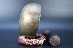 Tibetan Antique Chakra Singing Bow Handmade Nepal Meditation Healing Wool stick