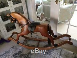 Traditional Handmade Wooden Rocking Horse on Bow Rocker by Hoseplay