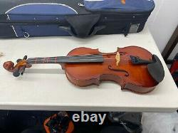 USED DZ Strad Model 101 Handmade Viola 14 with Case, Bow, and Chin rest