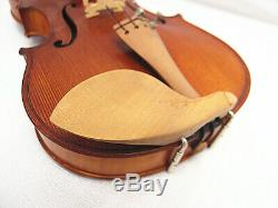 Used/Old 3/4 hand-made one piece flamed back violin+case+Bow+String #AQ308