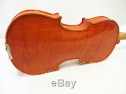 Used/Old 3/4 hand-made two pieces flamed back violin+case+Bow+String #M301