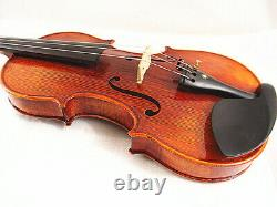 Used/Old Good Quality 4/4 Hand-Made Antique Violin +Bow +Rosin+ABS Case+ String