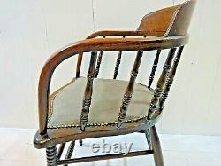Victorian Smoker's Bow Captain's Chair