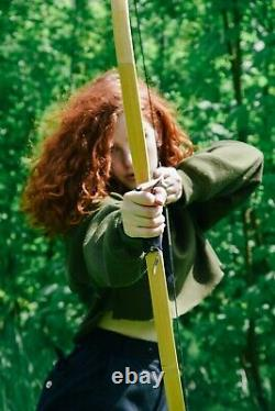 Viking Recurve Bow, SCA Medieval Archery Traditional Bow, Wooden LARP Short Bow