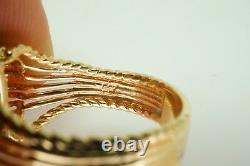 Vintage 14k Yellow Gold Black Onyx And 0.30ct Diamond Bow Estate Ring Size 10.5