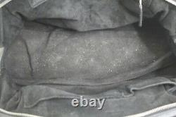 Vintage Christian Dior Hand Bag Black Leather Purse O1-RU-1027 Made in Italy