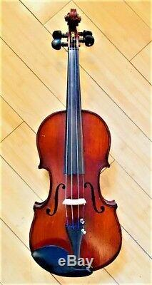 Vintage Fullsize Handmade 4/4 Violin with Fiddle Setup (Germany) Bow + Case