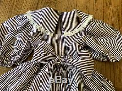 Vintage Girl Party Dress DAISY KINGDOM 6 7 8 Handmade Ruffle Bow Full Circle 80s