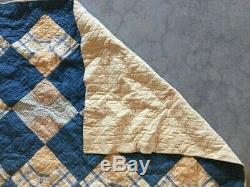 Vintage Handmade Bow Tie Pattern Quilt 1899 Midwest USA