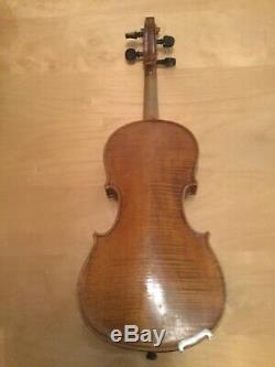 Vintage Handmade Violin 1887 With Bow and Shoulder Rest (Size 3/4)