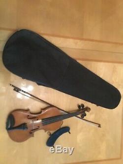 Vintage Handmade Violin 1887 With Bow and Shoulder Rest (Size 3/4)