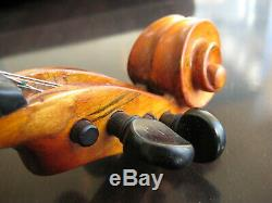 Vintage ISRAEL 1974 VIOLIN 4/4 Hand Made In Israel by JACOB ZAFT + Case & Bow