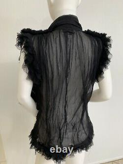 Vintage Jean Paul Gaultier Blouse Peignoir Style Tulle W Glass Heart Small-Large