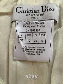 Vintage John Galliano For Christian Dior Boutique White Corset Top Bustier XXS