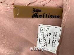 Vintage John Galliano Rose Silk Chiffon Top Made In France FR 36, US 2