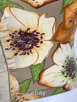 Vintage Manuel Canovas Corset Top Bustier Floral Made In France 34B