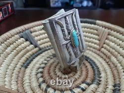 Vintage Sterling Silver Turquoise Bow Guard/ Arm Band