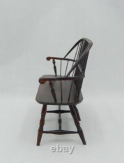 Vintage William Clinger Bow Back Windsor Bench Dollhouse Miniature 112