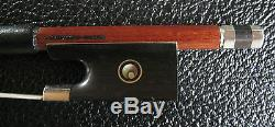Violin Bow- 4/4 Maker A. Carvalhc Brasil Hand made Pernambuco -Nickel