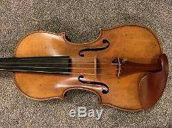 Violin Handmade Custom Ma Zhibin Workshop Flamed Woods Top Reviews & Bow 4/4