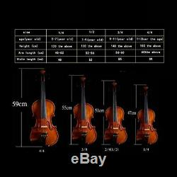 Violin Handmade Imported Solid Wood Violin Professional Test Played Bow Instrume