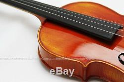 Violin Handmade Real Wood Violin Fiddle Case Bow Rosin Set Size 4/4