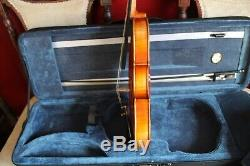Violin, bow and case. New. Excellent handmade full size (4/4)
