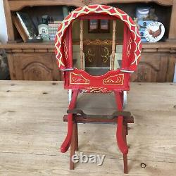 Vtg Gypsy Bow Top Caravan Vardo Rare Open Lot 2 Wheel Highly Decorated Model