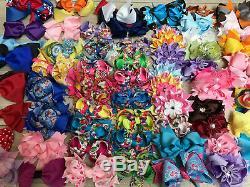 WHOLESALE 200pcs BABY GIRL TEEN WOMEN BOUTIQUE FABIRC LACE HAIR BOWS 4TO 6