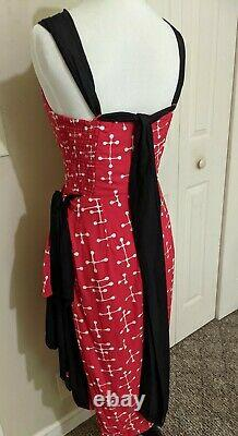 Whirling Turban CUSTOM COUTURE Sarong Dress. One-of-a-Kind Vintage Reproduction