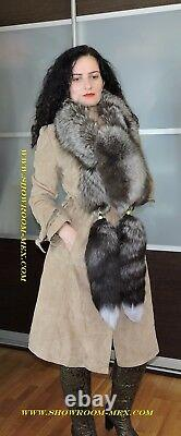XXXL Gorgeous Luxurious Fox Real Fur Collar Boa Shawl Scarf Bolero Wedding