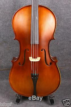Yinfente 4/4 Cello Handmade Nice Maple Spruce Cello Bag Bow Ebony Fittings