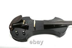 Yinfente 4/4 Electric Silent Violin Natural wood Handmade Free Case+Bow #EV19