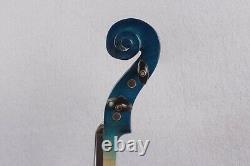 Yinfente Electric Violin 4/4 Handmade Solid Wood Ebony Fittings Bow Case Blue